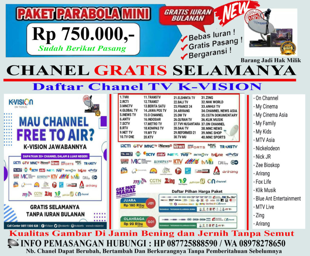 Anten Parabola K Vision Parabola Mini Ninmedia Cirebon